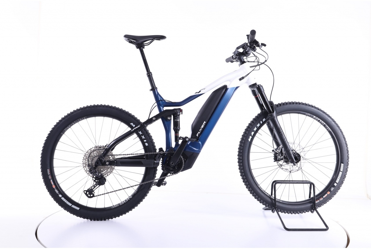 Flyer, Uproc4 6.30 Fully  space blue solid white matt  75, E-Bike