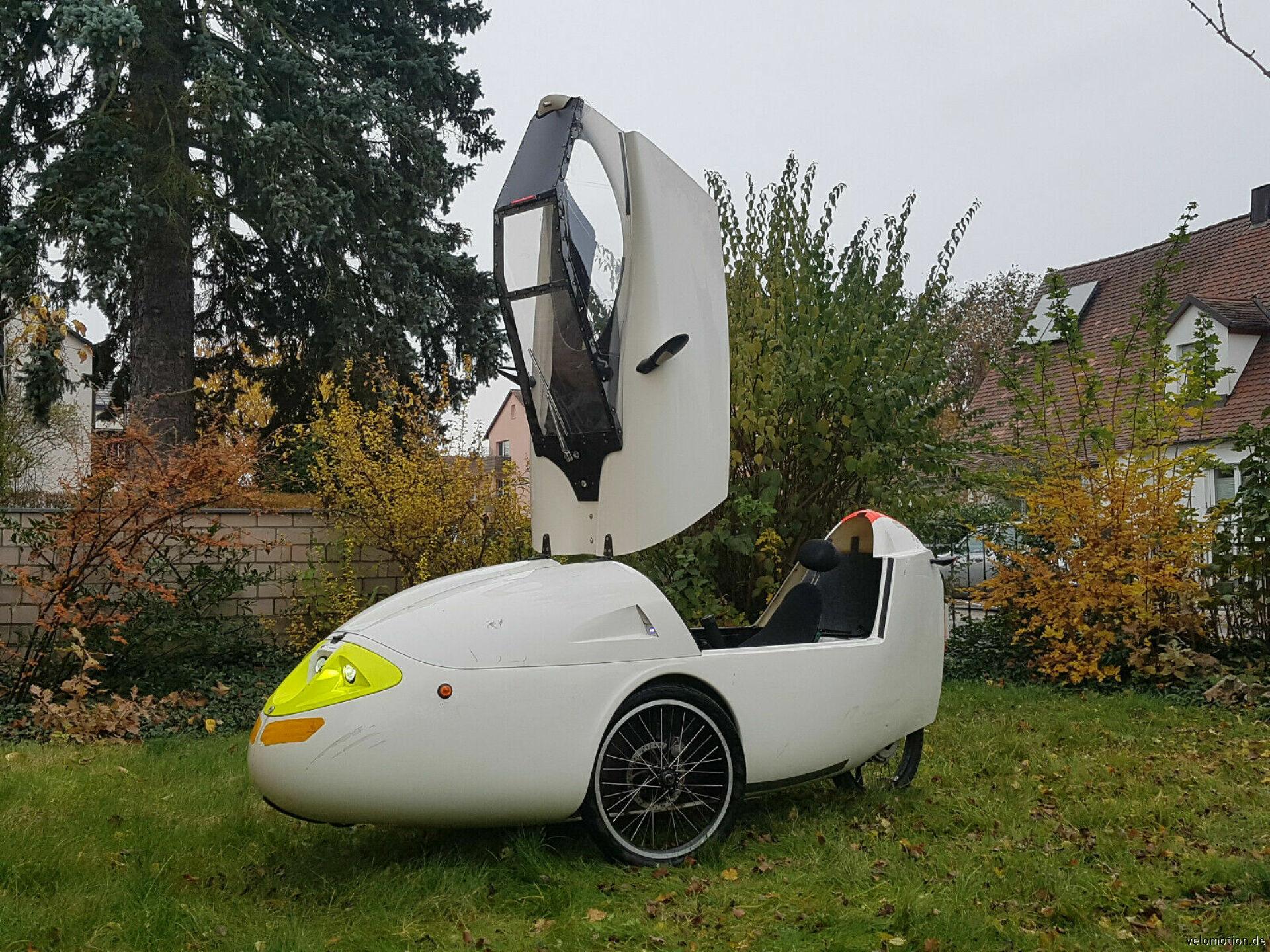 Velomobil Sunrider Hybrid, Beschleunigung 0-40kmh  #1