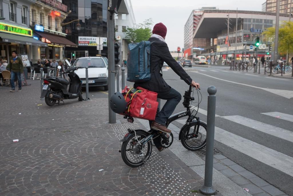 Michael Hugentobler unterwegs mit dem Birdy in Lille/Frankreich