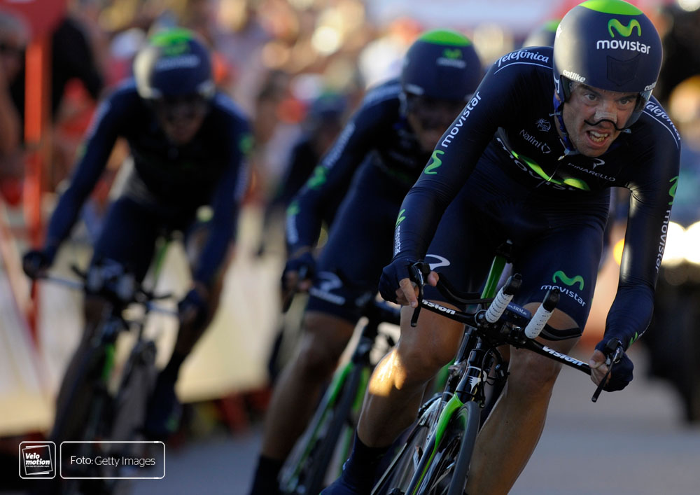 Vuelta Teamvorstellung Movistar Quintana Valverde