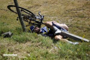 Radsport: Johnny Hoogerland wurde angefahren bei der Tour de France vor einigen Jahren