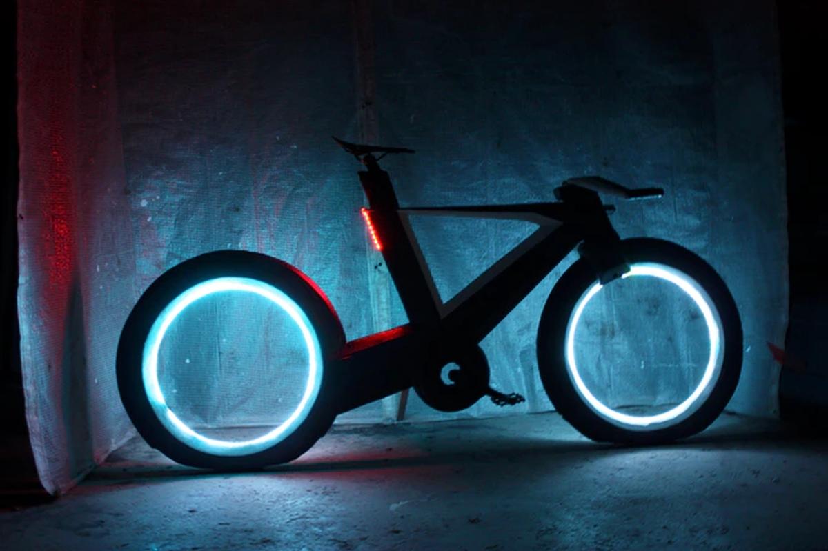 cyclotron futuristisches carbonrad ohne naben und. Black Bedroom Furniture Sets. Home Design Ideas