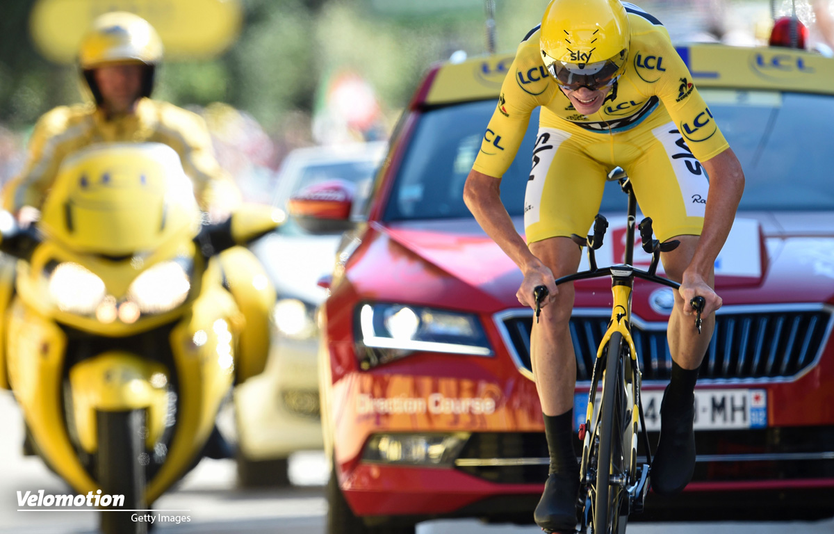 In Gelb wird Chris Froome heute nicht am Start stehen, darunter wird sein unkonventioneller Fahrstil aber nicht leiden.
