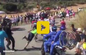 Polizist Vuelta Zuschauer
