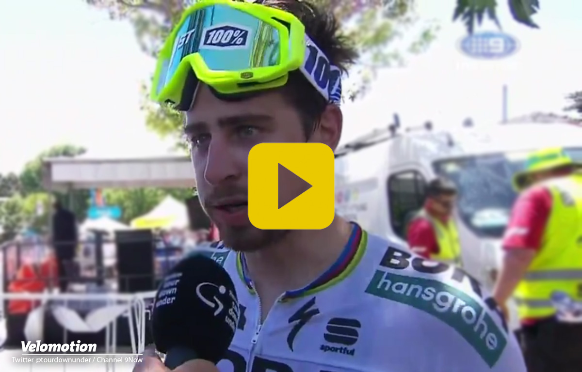 Sagan Peter Tour Down Under Video Interview