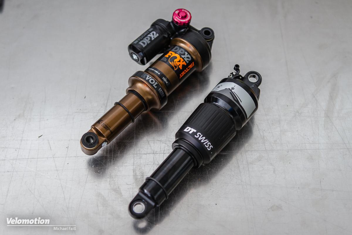 Dämpfer-Test: Fox DPX2 & DT Swiss R414 im Vergleich - Velomotion