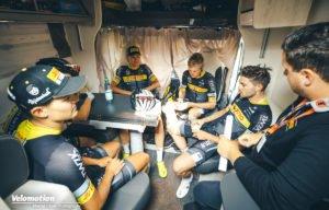 Deutschland Tour Lotto-Kern Haus Teambesprechung