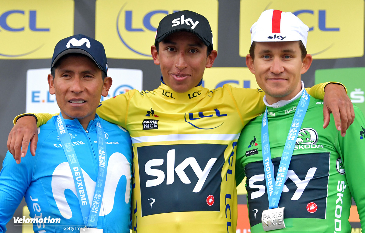 Izagirre Bernal Kwiatkowski Quintana Paris - Nizza