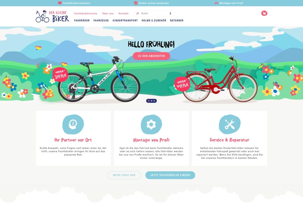 Der kleine Biker