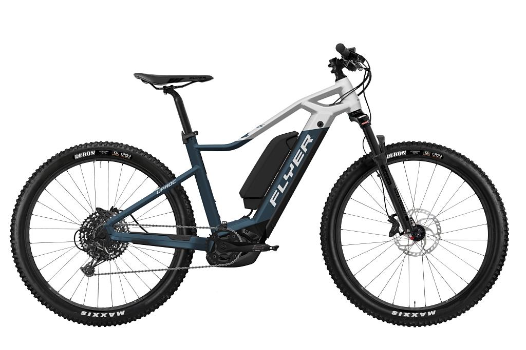 FLYER_E-Bikes_Uproc1_450_Hardtail_SpaceBlueSolidWhiteMatt_DualBattery