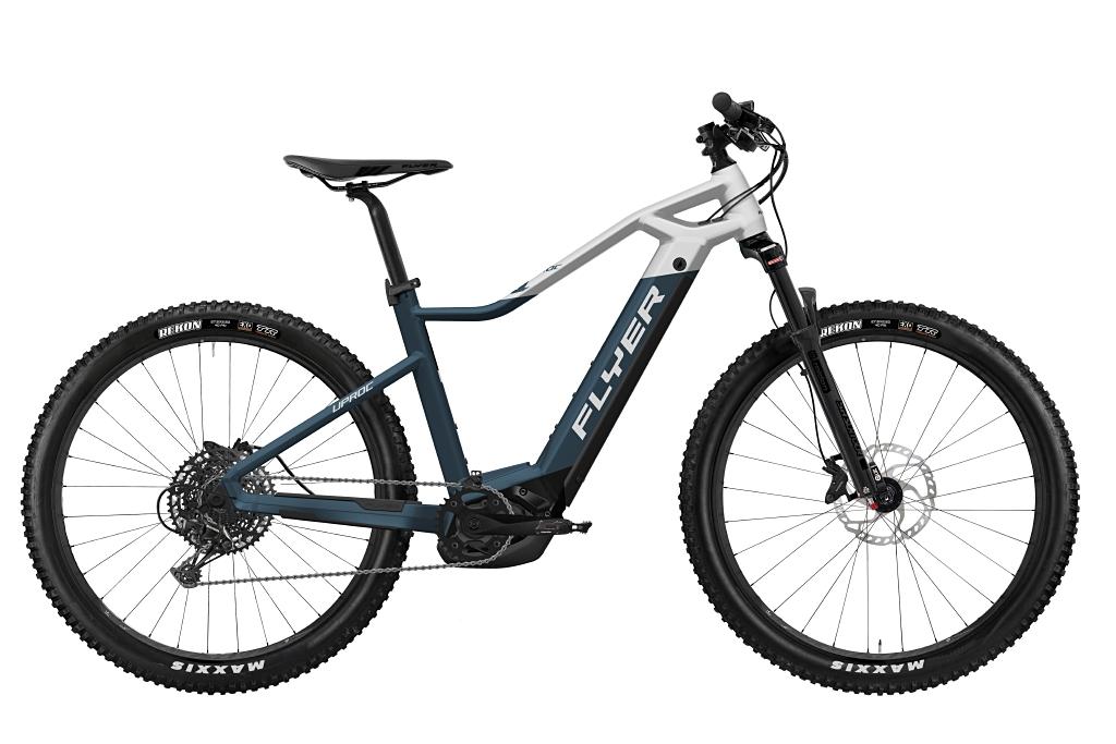 FLYER_E-Bikes_Uproc1_450_Hardtail_SpaceBlueSolidWhiteMatt