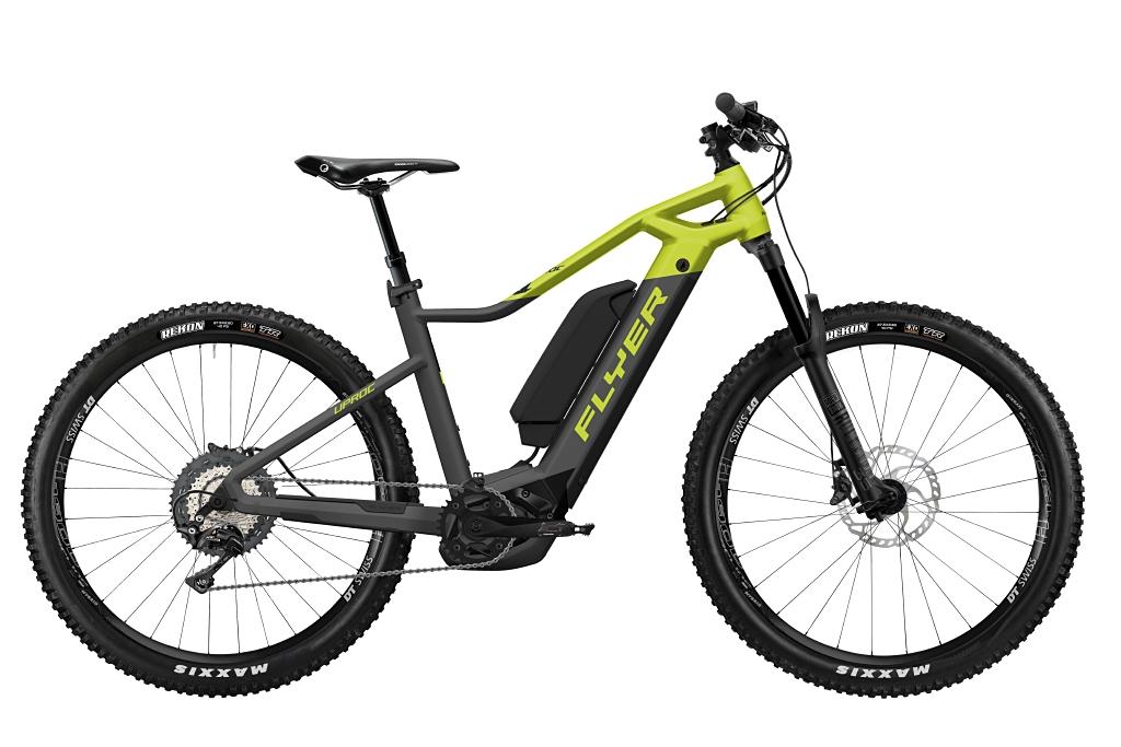FLYER_E-Bikes_Uproc1_870_Hardtail_AnthraziteLimeGreenMatt_DualBattery