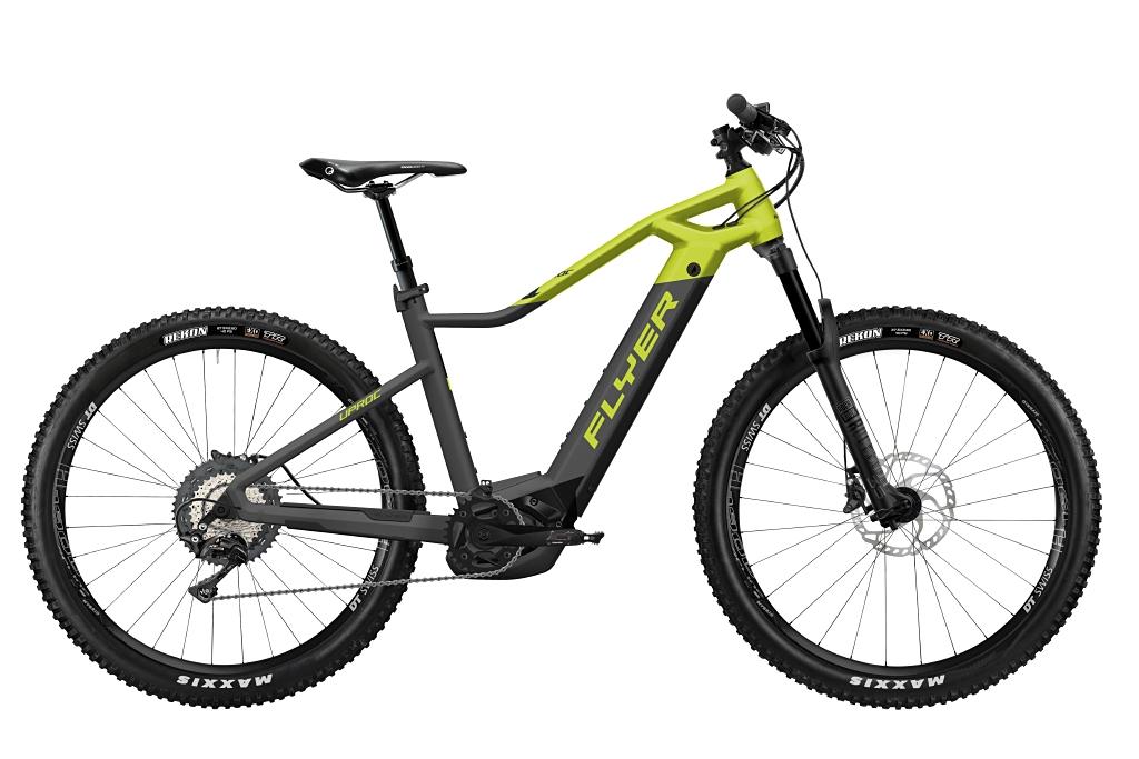FLYER_E-Bikes_Uproc1_870_Hardtail_AnthraziteLimeGreenMatt