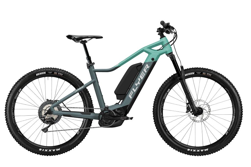 FLYER_E-Bikes_Uproc1_870_Hardtail_PigeonBlueMintMatt_DualBattery