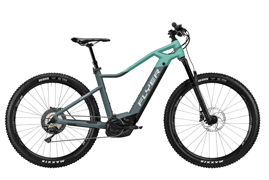 FLYER_E-Bikes_Uproc1_870_Hardtail_PigeonBlueMintMatt
