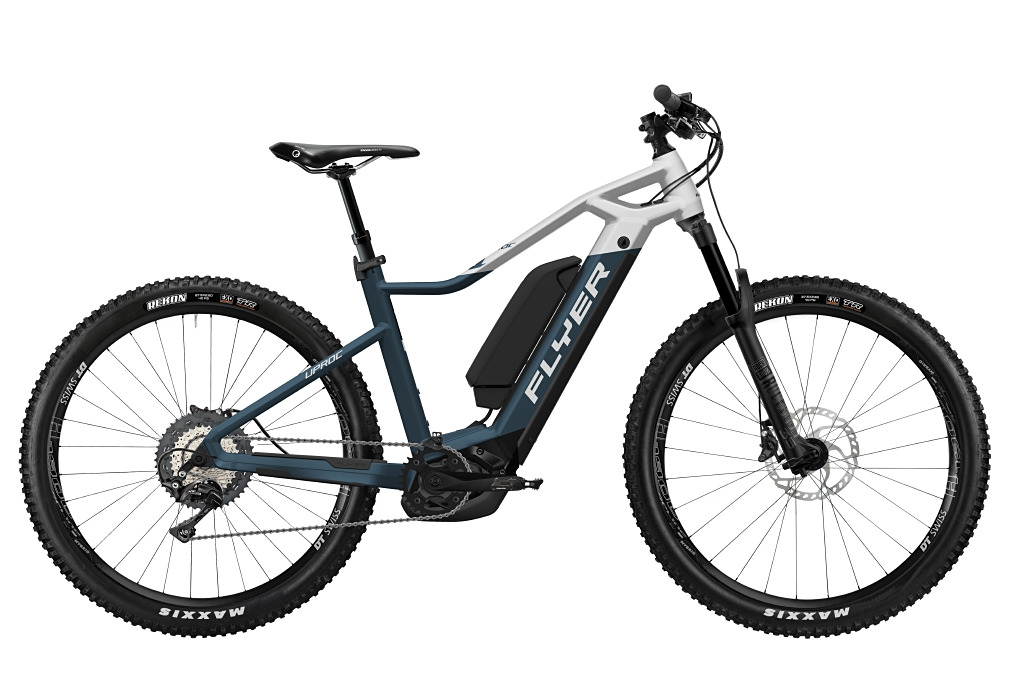 FLYER_E-Bikes_Uproc1_870_Hardtail_SpaceBlueSolidWhiteMatt_DualBattery