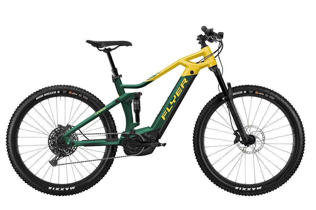 FLYER_E-Bikes_Uproc3_650_Fullsuspension_OpalGreenSunflower