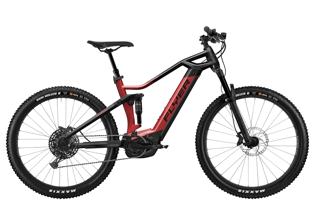 FLYER_E-Bikes_Uproc3_650_Fullsuspension_RedBrownBlack