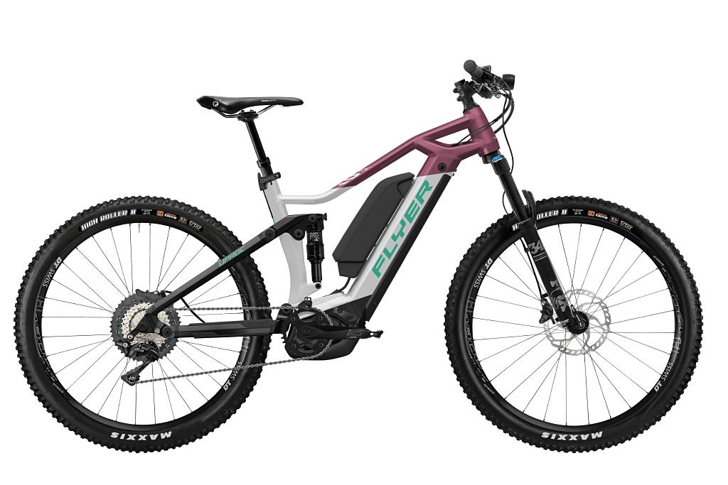 FLYER_E-Bikes_Uproc3_870_Fullsuspension_SolidWhiteBerry-Dual-Battery