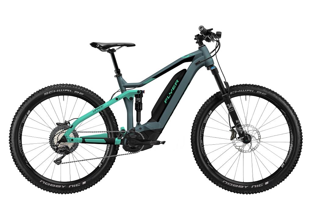 FLYER_E-Bikes_Uproc4_870_Fullsuspension_PigeonBlueMintMatt