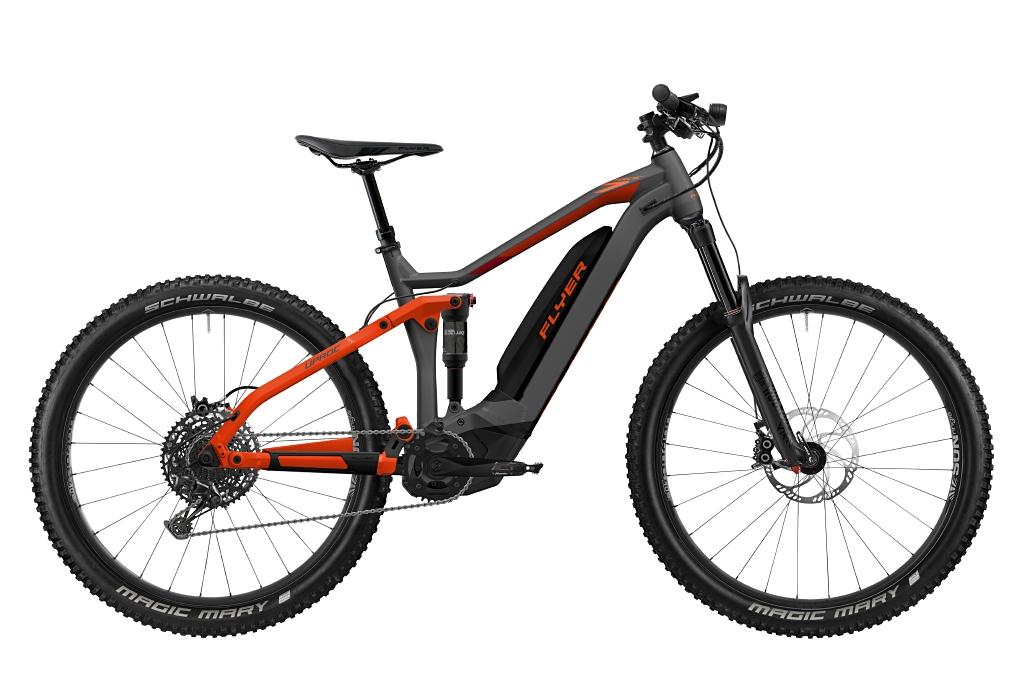 FLYER_E-Bikes_Uproc7_650_Fullsuspension_AnthraciteMagmaRedMatt