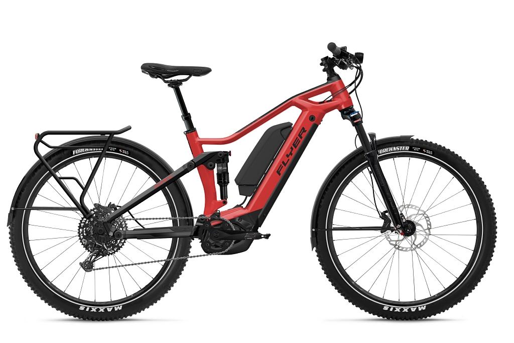 FLYER_E-Bikes_Goroc3_650_Fullsuspension_ClassicRedBlackGloss-Dual-Battery