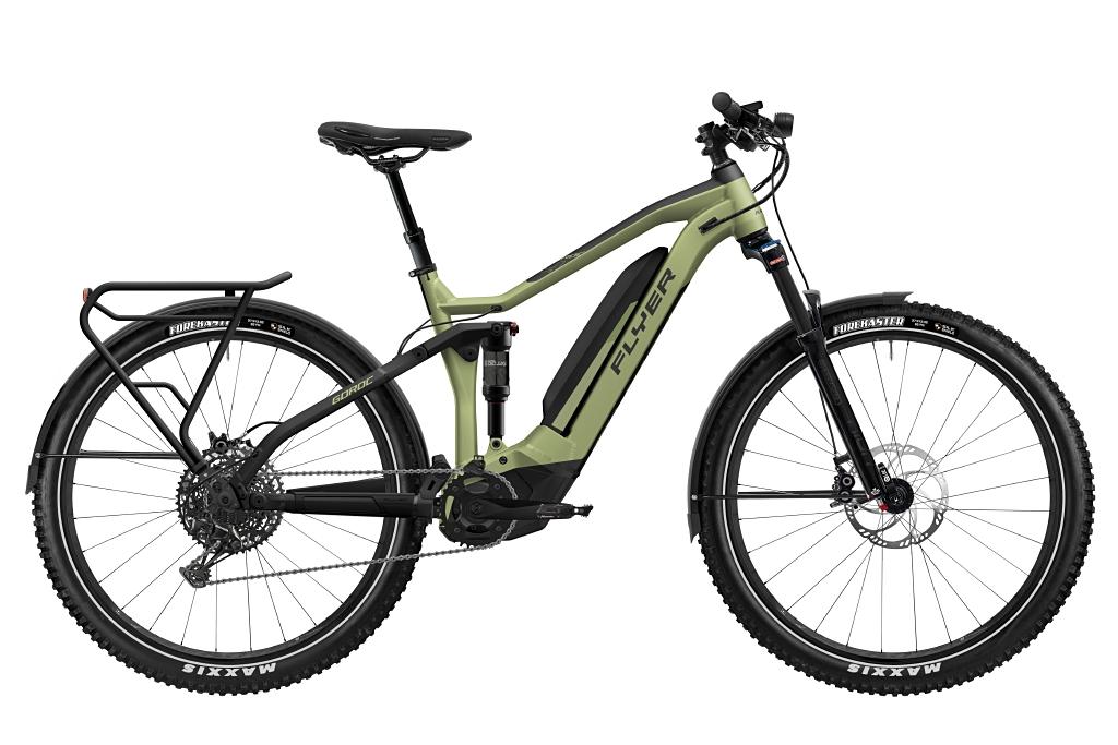 FLYER_E-Bikes_Goroc4_650_Fullsuspension_OliveMetMatt_BlackMatt