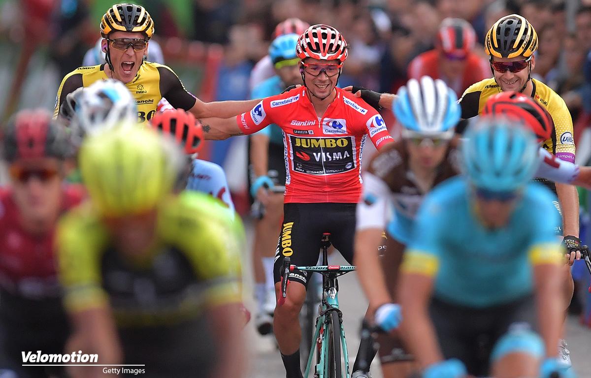 Roglic Vuelta a Espana Jakobsen