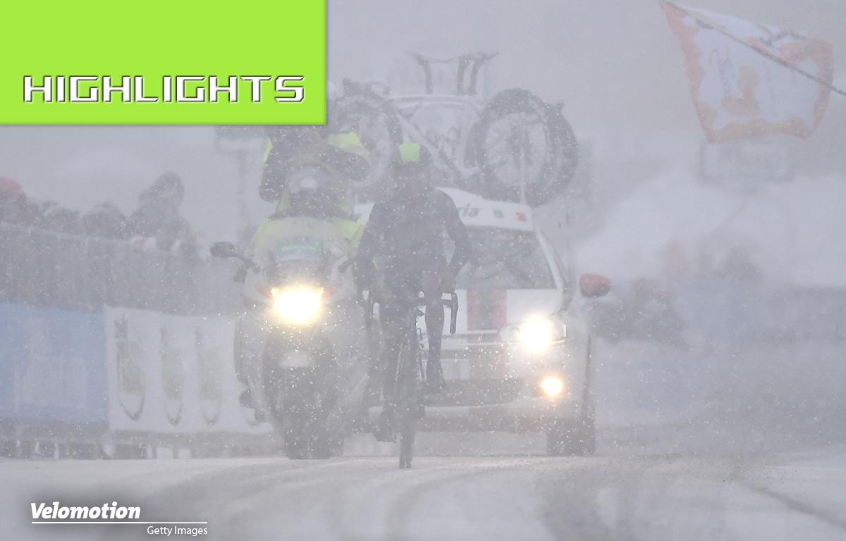 Nairo Quintana Schnee Tirreno-Adriatico