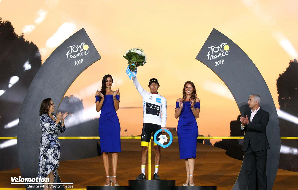 Weißes Trikot Tour de France Egan Bernal