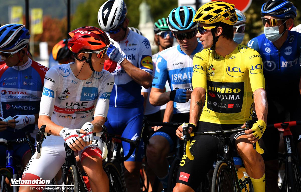 Pogacar Roglic Tour de France