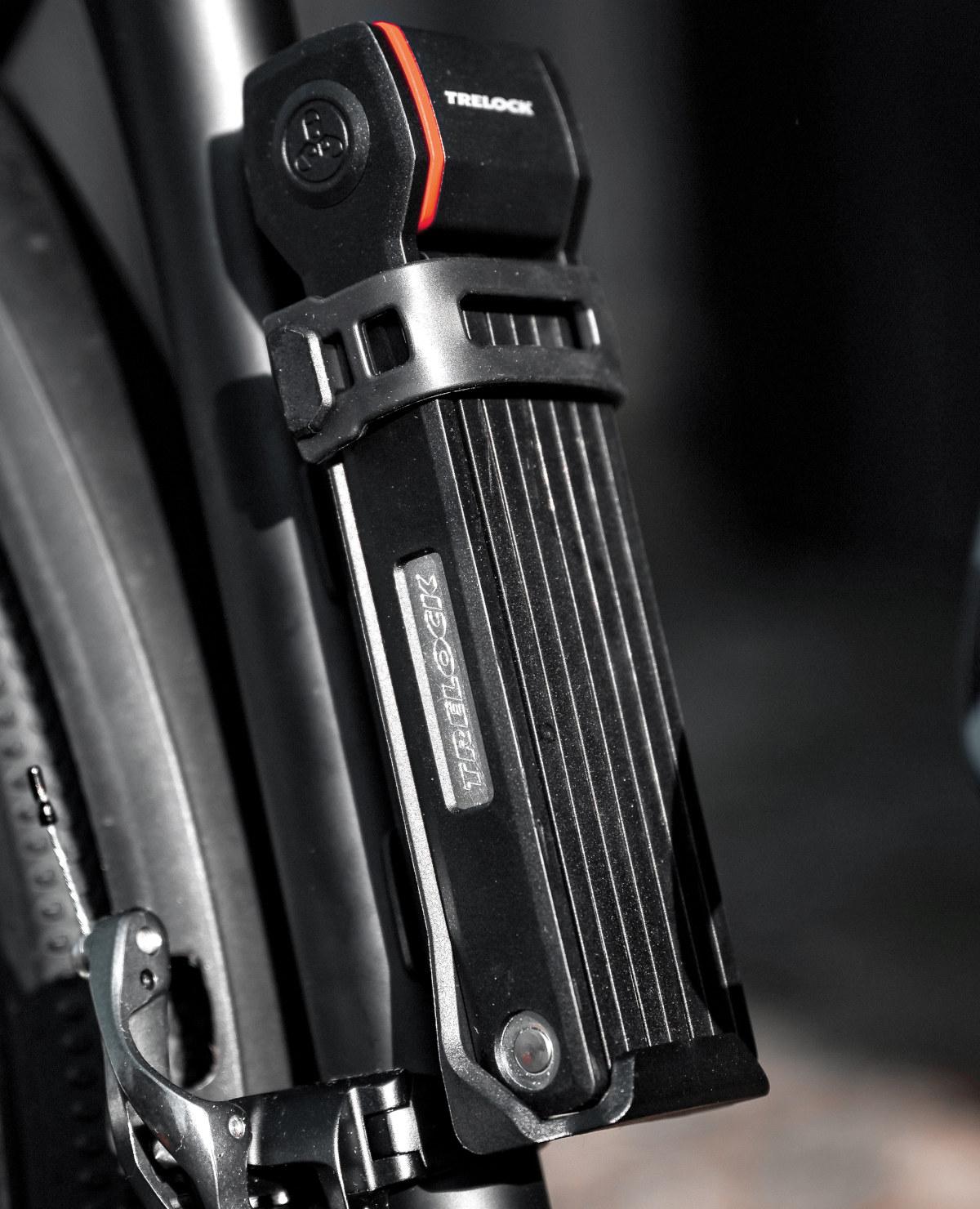 Trelock Faltschloss FS280 TWO.GO: Kompaktes Fahrradschloss mit hoher Flexibilität beim Anschließen
