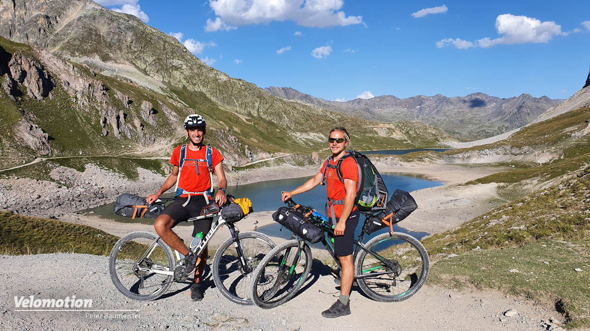 Radtour, Alpenüberquerung